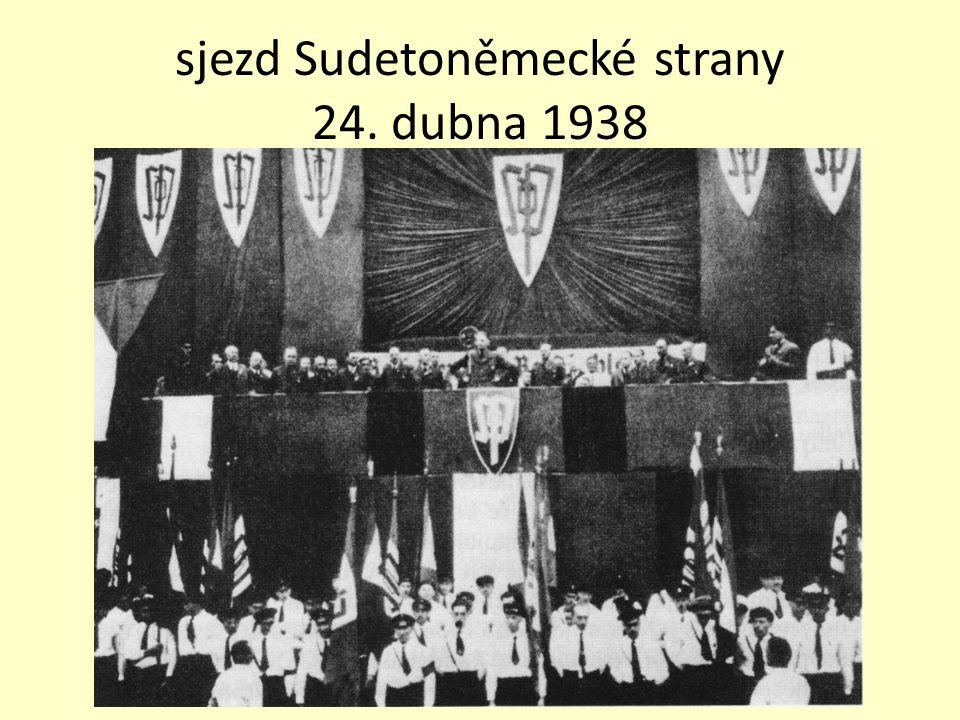 sjezd Sudetoněmecké strany 24. dubna 1938