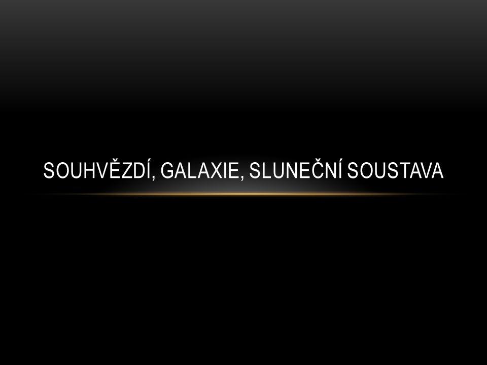 Souhvězdí Galaxie Sluneční soustava