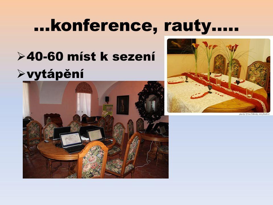 …konference, rauty…..  40-60 míst k sezení  vytápění