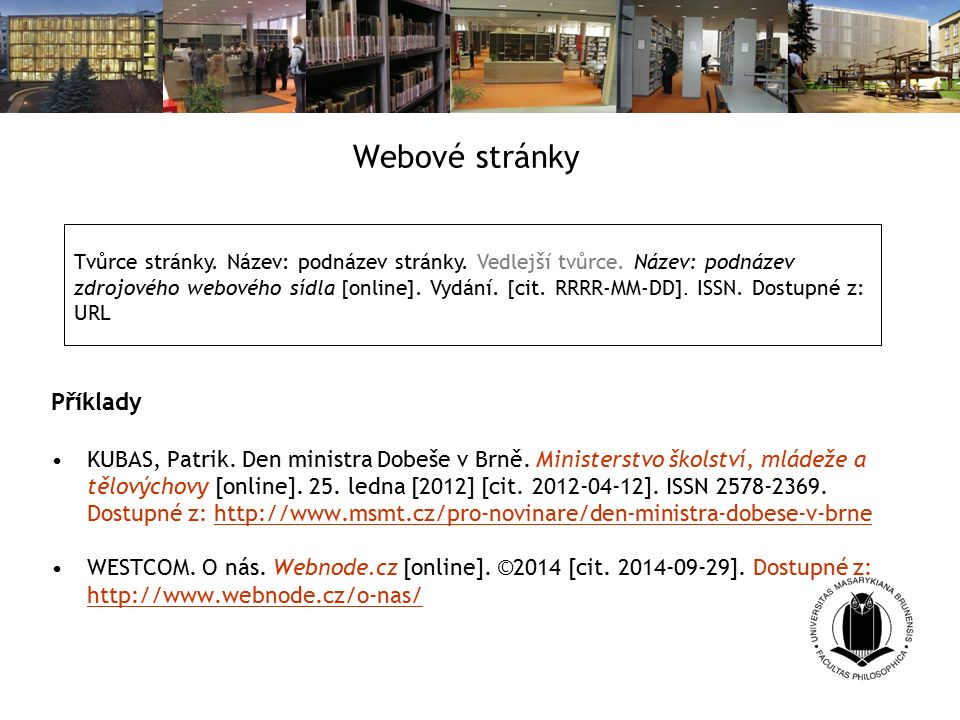 Webové stránky Příklady KUBAS, Patrik. Den ministra Dobeše v Brně.