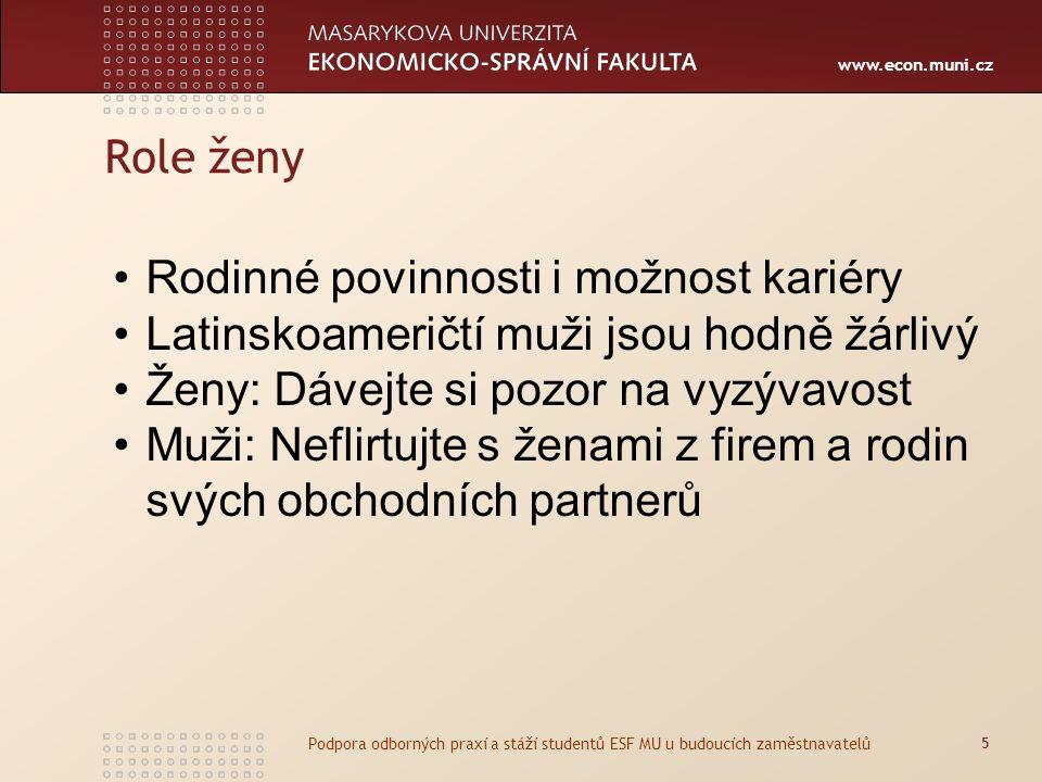 www.econ.muni.cz Podnikáni a kulturní odlišnosti Latinská Amerika Zpracoval: Ing.