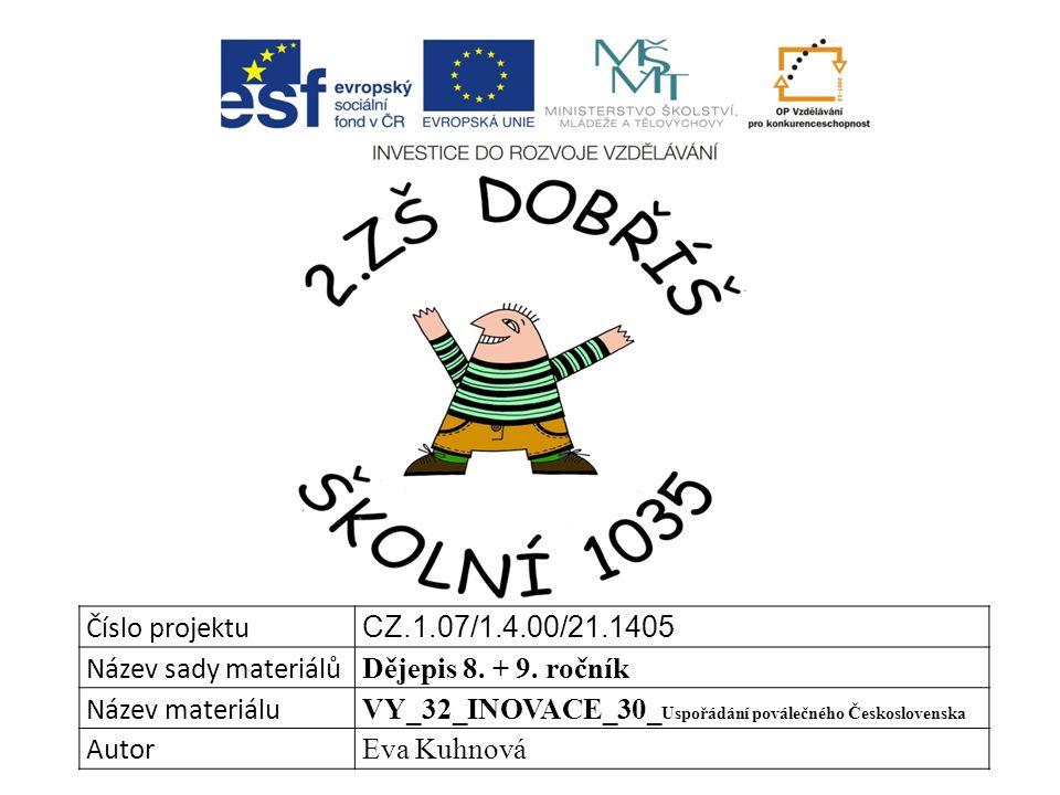 Číslo projektu CZ.1.07/1.4.00/21.1405 Název sady materiálů Dějepis 8.