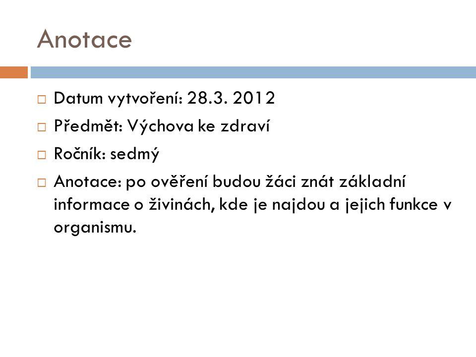 Anotace  Datum vytvoření: 28.3.