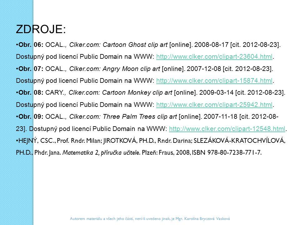 ZDROJE: Obr. 06: OCAL., Clker.com: Cartoon Ghost clip art [online]. 2008-08-17 [cit. 2012-08-23]. Dostupný pod licencí Public Domain na WWW: http://ww
