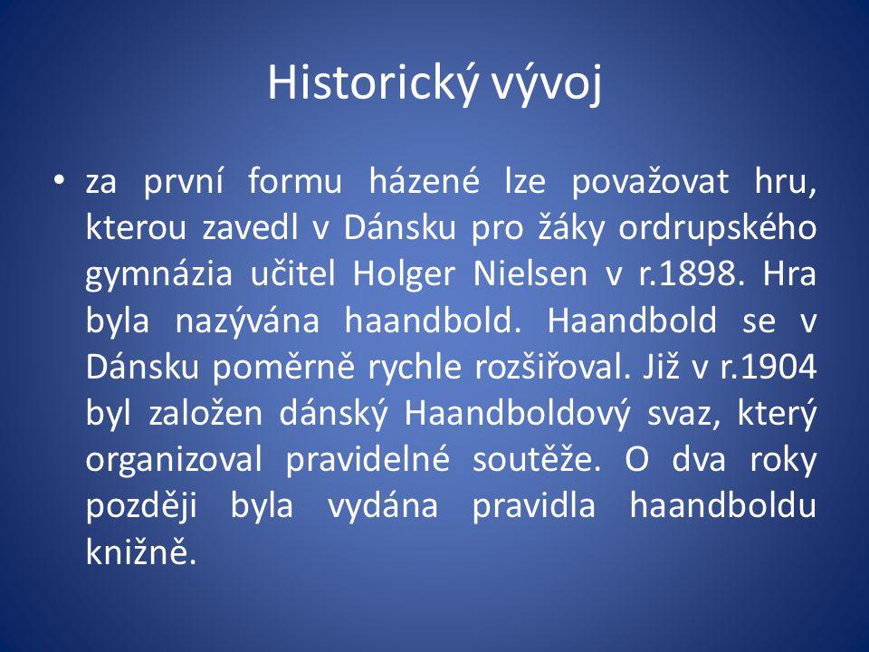 Historický vývoj dánské hnutí ovlivnilo pravděpodobně i vývoj házené ve Švédsku.