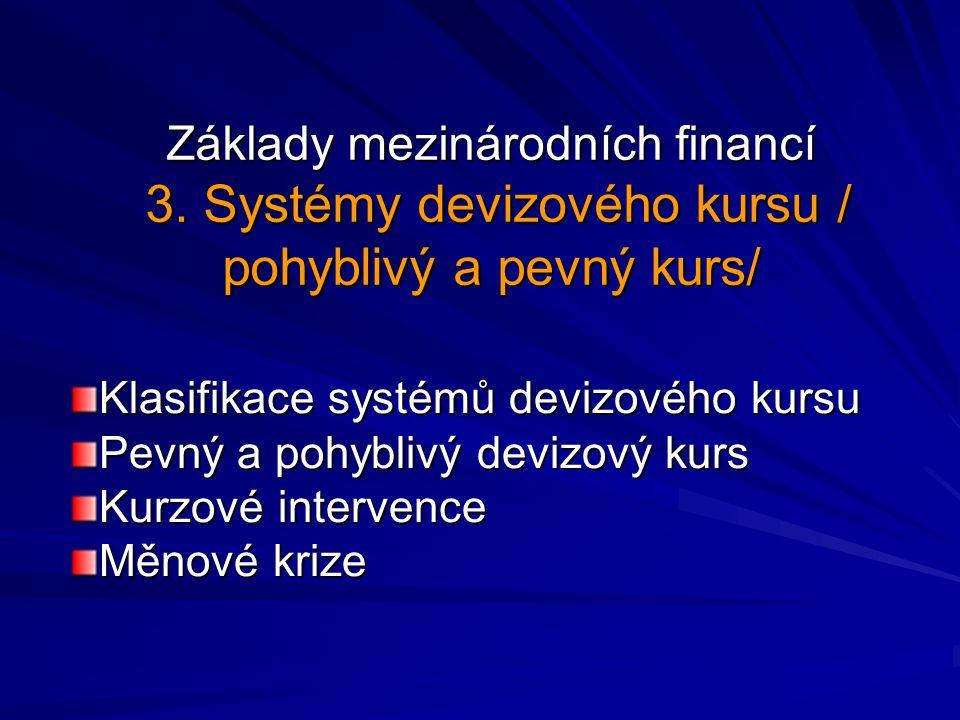 Základy mezinárodních financí 3.