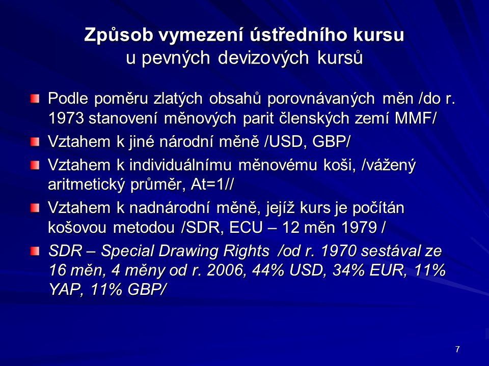 Mechanismus fungování řízeného floatingu intervence centrální banky D2S1 D1 S2 E2 E1 E3 E1 E3 POKLES DEVIZOVÝCH REZERV Q3 – Q1 Q1 Q2 Q3 Q1 Q2 Q3 18