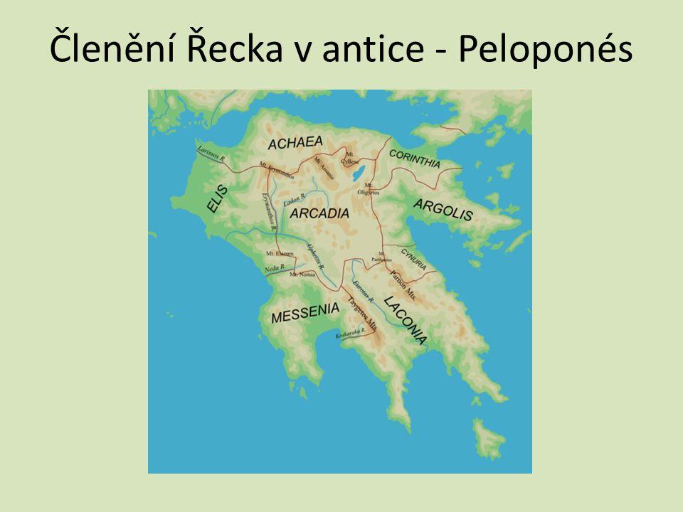 Členění Řecka v antice - Peloponés