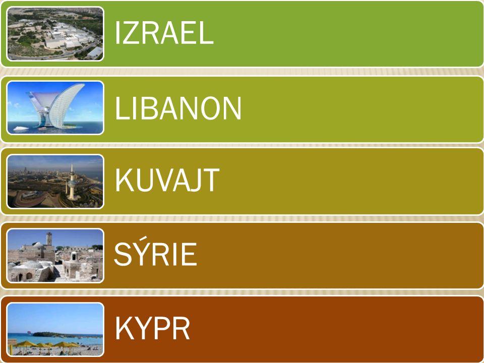 IZRAEL LIBANON KUVAJT SÝRIE KYPR