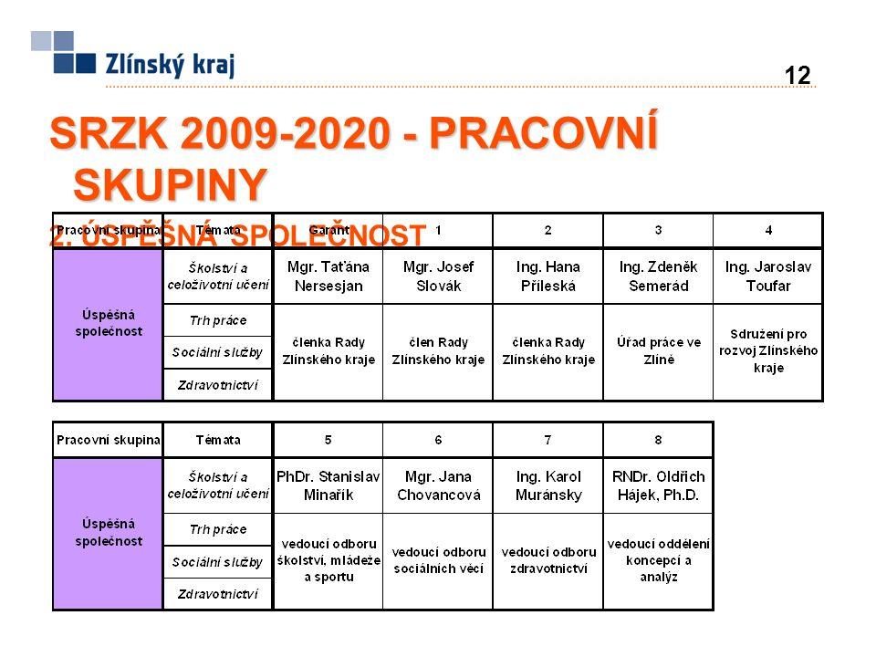 12 SRZK 2009-2020 - PRACOVNÍ SKUPINY 2. ÚSPĚŠNÁ SPOLEČNOST