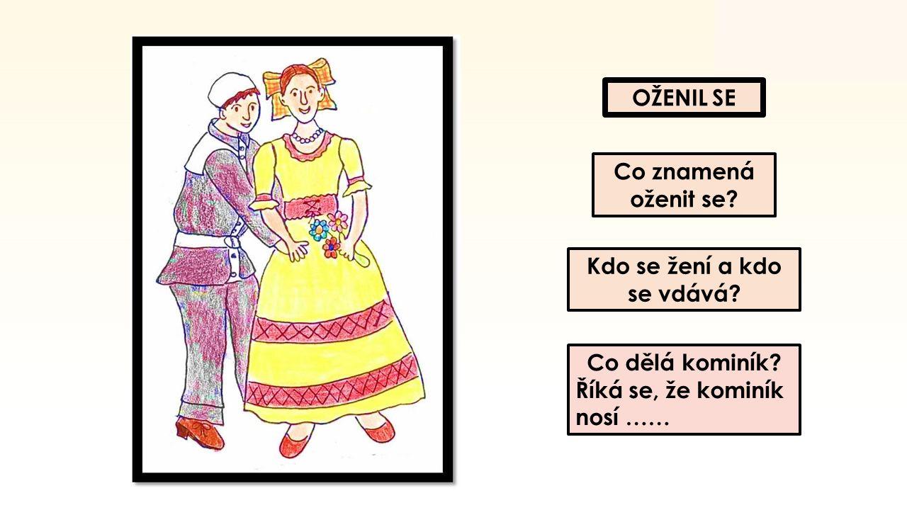 OŽENIL SE Co znamená oženit se.Kdo se žení a kdo se vdává.
