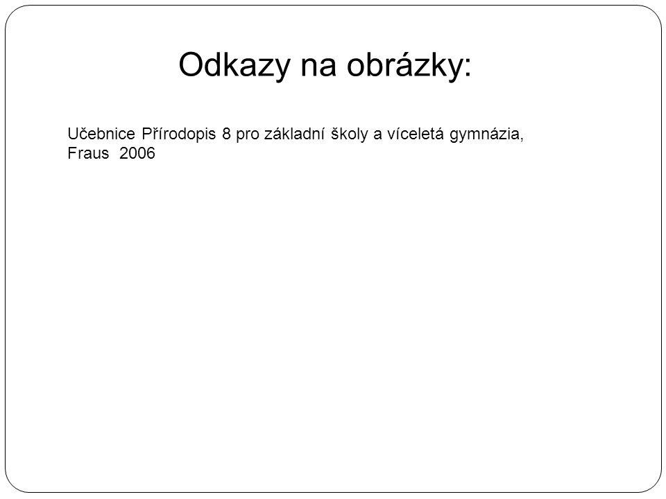 Odkazy na obrázky: Učebnice Přírodopis 8 pro základní školy a víceletá gymnázia, Fraus 2006