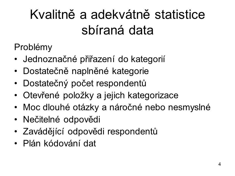 65 Prezentace dat v práci Kritéria dobré prezentace přehlednost grafů a tabulek srovnávání vhodných skupin v komentáři ke grafům komentář není převod čísel do slov, je třeba uplatnit nadhled vyjádřit se ke svým hypotézám (očekávám, předpokládám…) tematicky řadit údaje, tabulky a grafy rozlišit jasně samotné údaje a svou interpretaci údajů – jde o vhodné formulace –srovnat své závěry s údaji z předcházejících výzkumů