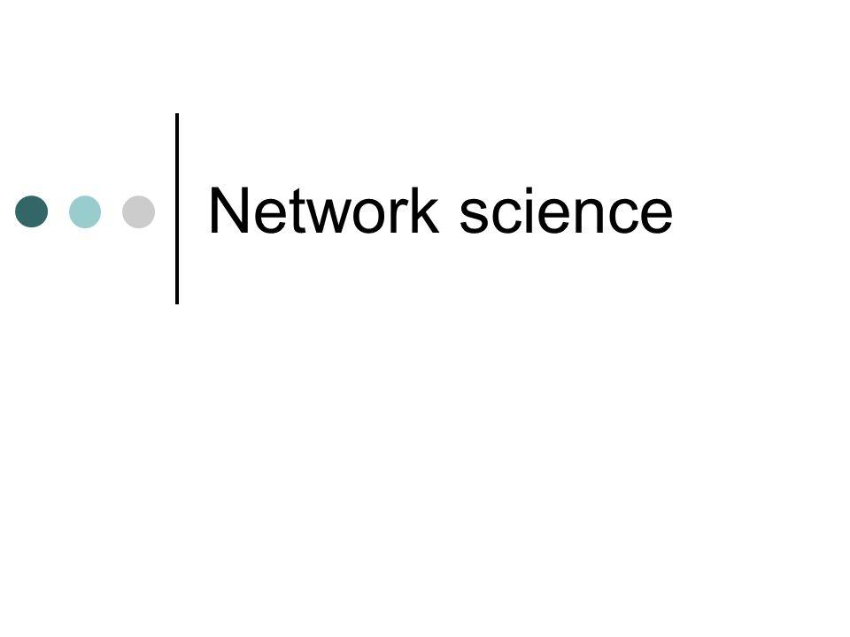 Věda o sítích interdisciplinární obor studium sítí – biologických, technologických, vědeckých atd.