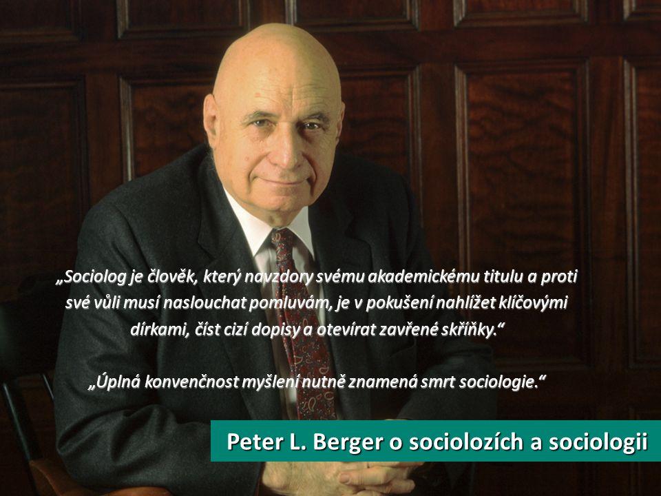 O čem mluvit? Co je to sociologie? Jak vypadá studium sociologie? K čemu je studium sociologie?