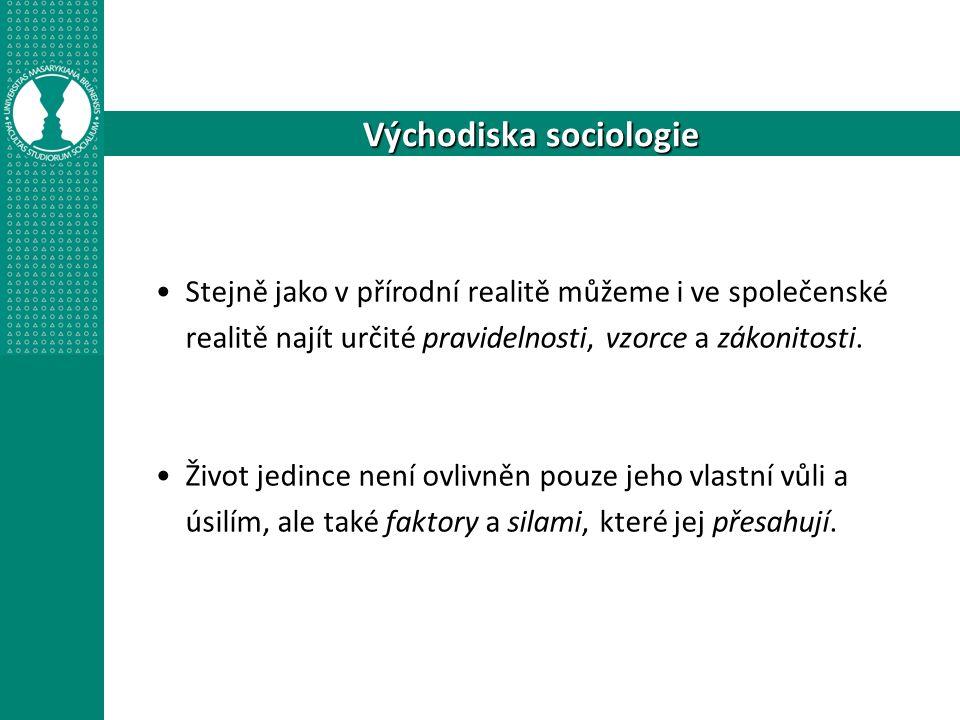 Poznáváme sociologii
