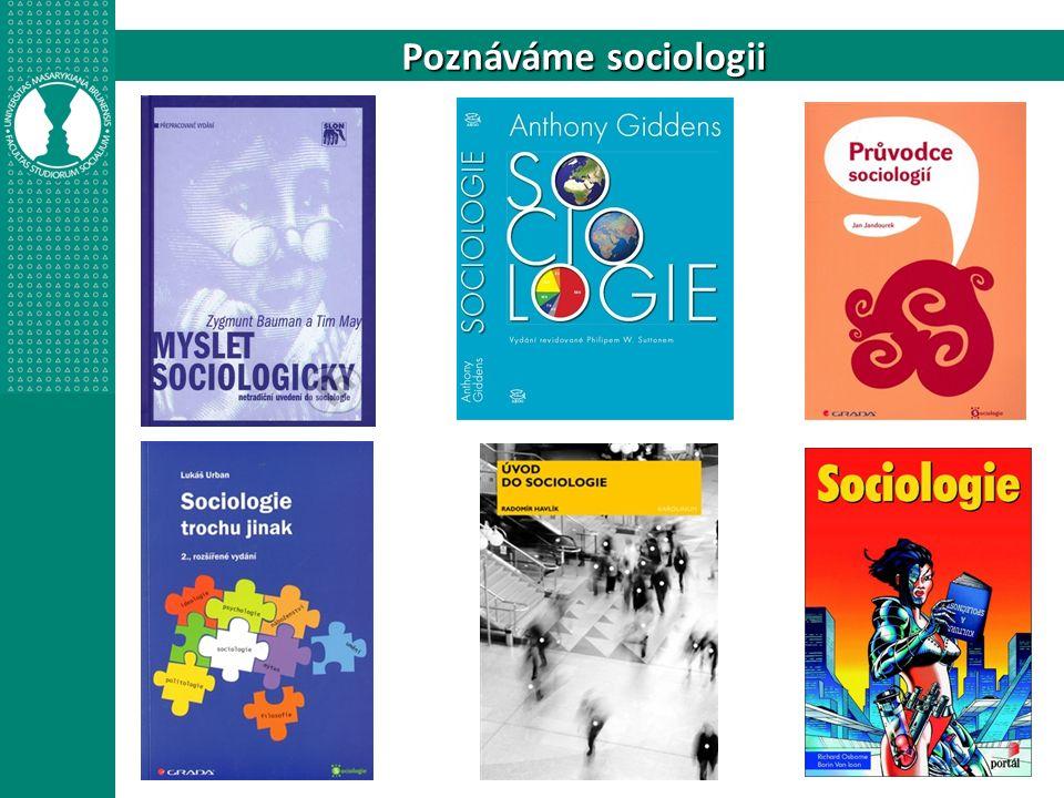 """Studovat sociologii znamená: 1)Čerpat sumu konkrétních poznatků (sociální struktura, demografické trendy, dějiny společenských institucí…) 2)Osvojovat si metodologické dovednosti (tvorba demografických ukazatelů, příprava různých typů výzkumů, interpretace statistických dat…) 3)Rozvíjet obecné intelektuální schopnosti (komparace, analýza, kritické myšlení…) 4)Zaujímat novou perspektivu (překračování roviny """"selského rozumu , vnímání širších souvislostí, problematizace neproblematického…) 5)Zapojovat se do sociálních sítí (akademická sféra, veřejné instituce, média…)"""