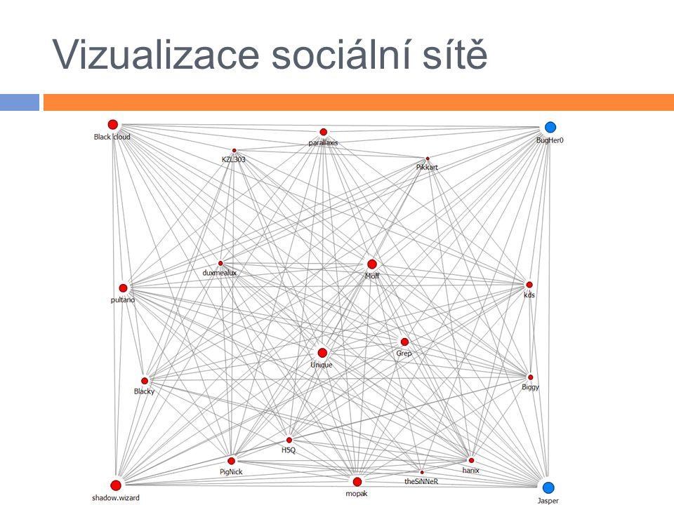 Vizualizace sociální sítě