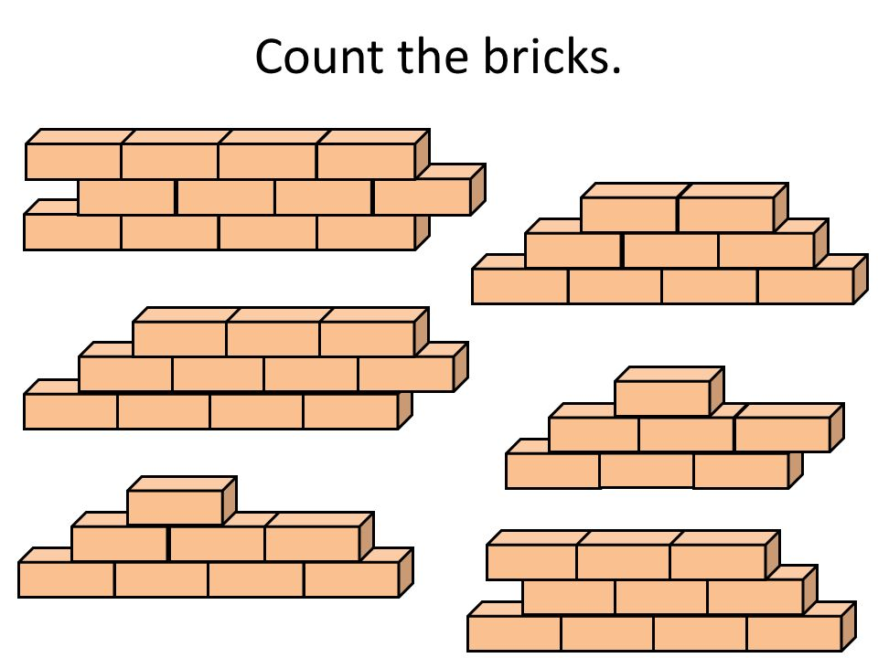 Count the bricks.