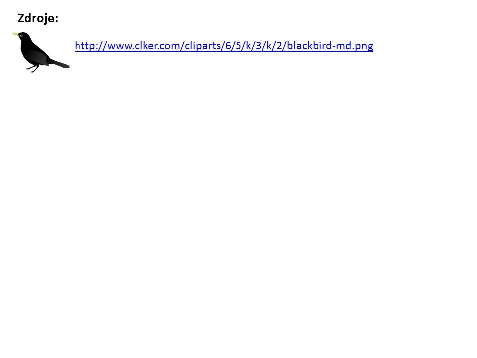 http://www.clker.com/cliparts/6/5/k/3/k/2/blackbird-md.png Zdroje:
