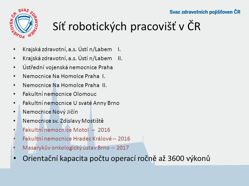 Síť robotických pracovišť v ČR Krajská zdravotní, a.s.