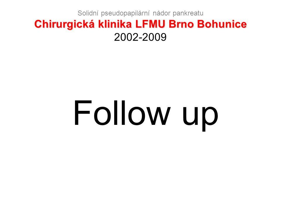 Chirurgická klinika LFMU Brno Bohunice Solidní pseudopapilární nádor pankreatu Chirurgická klinika LFMU Brno Bohunice 2002-2009 Follow up