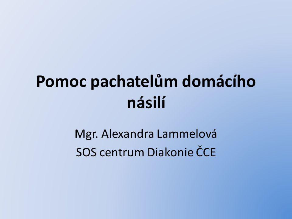 Pomoc pachatelům domácího násilí Mgr. Alexandra Lammelová SOS centrum Diakonie ČCE