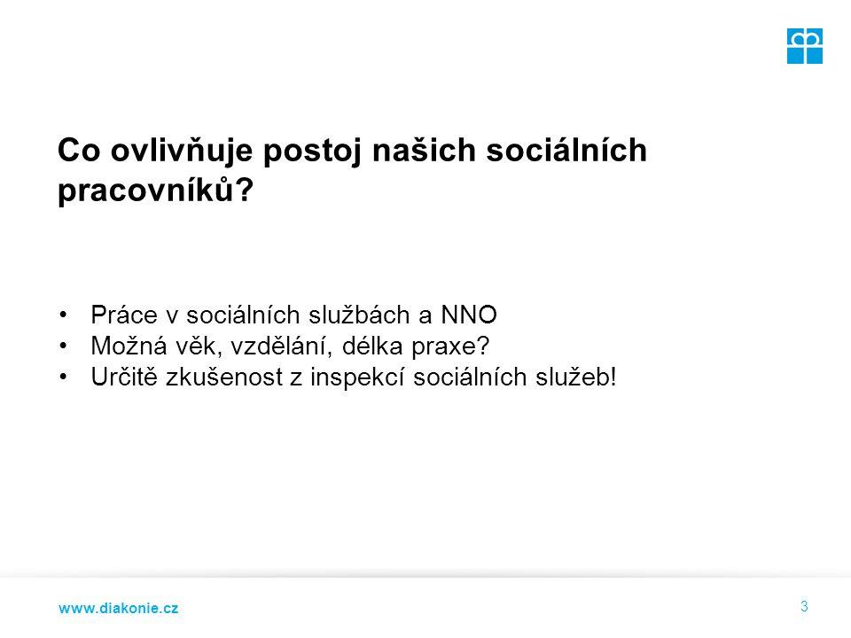 www.diakonie.cz Co ovlivňuje postoj našich sociálních pracovníků.