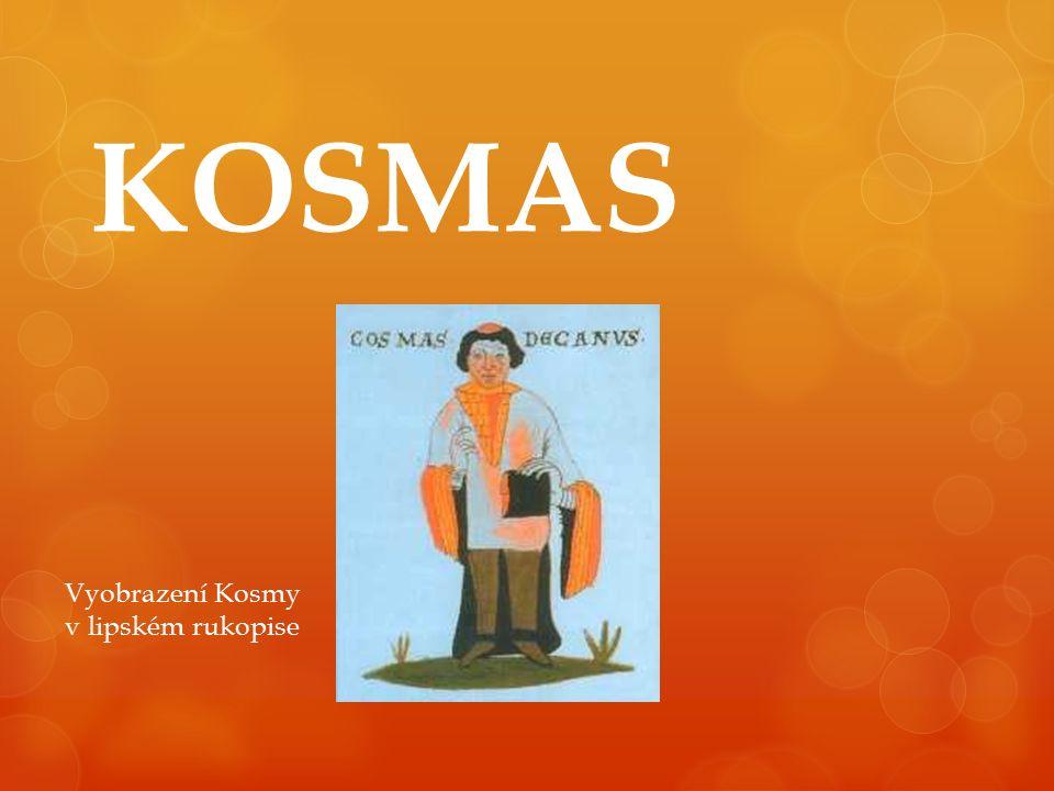 KOSMAS Vyobrazení Kosmy v lipském rukopise
