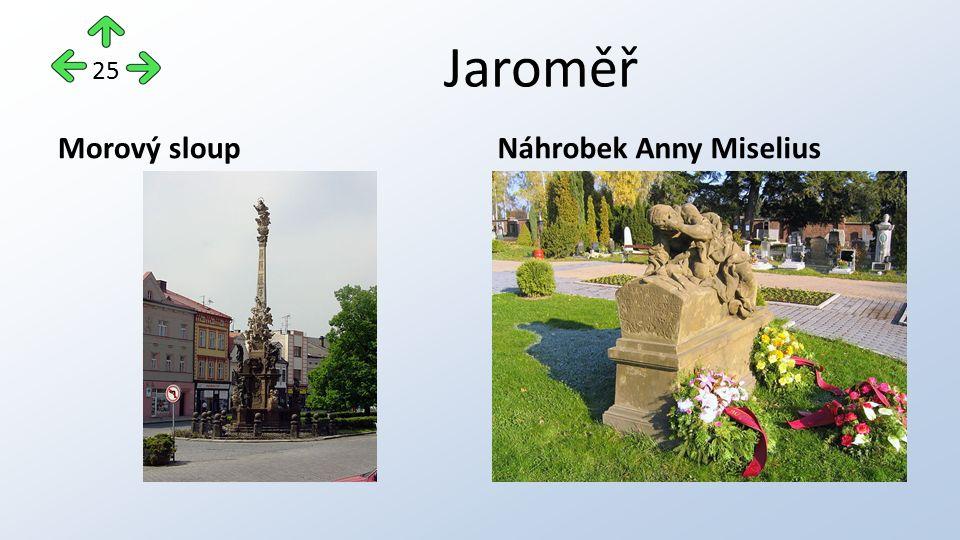 Jaroměř Morový sloupNáhrobek Anny Miselius 25