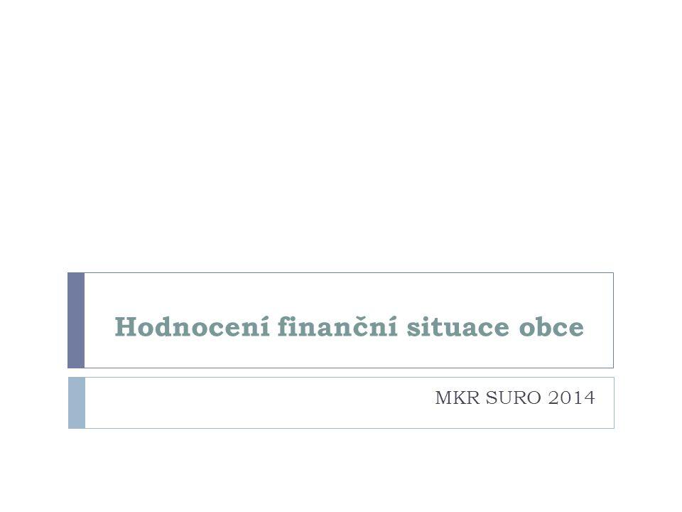 Hodnocení finanční situace obce MKR SURO 2014