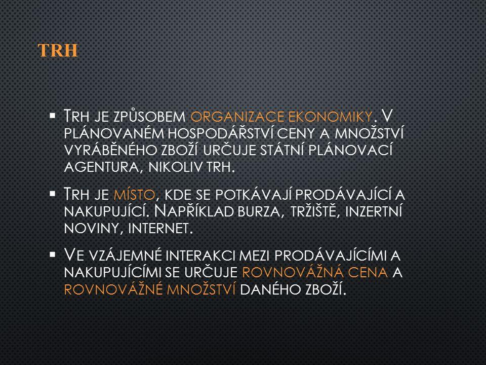 TRH   T RH JE ZPŮSOBEM ORGANIZACE EKONOMIKY.