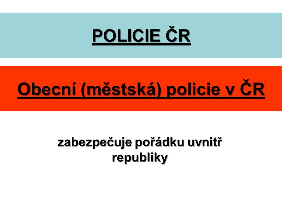 Úkoly PČR chrání bezpečnost osob a majetku zajišťování veřejného pořádku boj proti terorismu odhaluje trestné činy, přestupky a zjišťuje pachatele zajišťuje ochranu státních hranic zajišťuje ochranu ústavních činitelů zajišťuje ochranu úřadů dohlíží na bezpečnost a plynulost silničního provozu kontroluje doklady vyhlašuje celostátní pátrání apod.