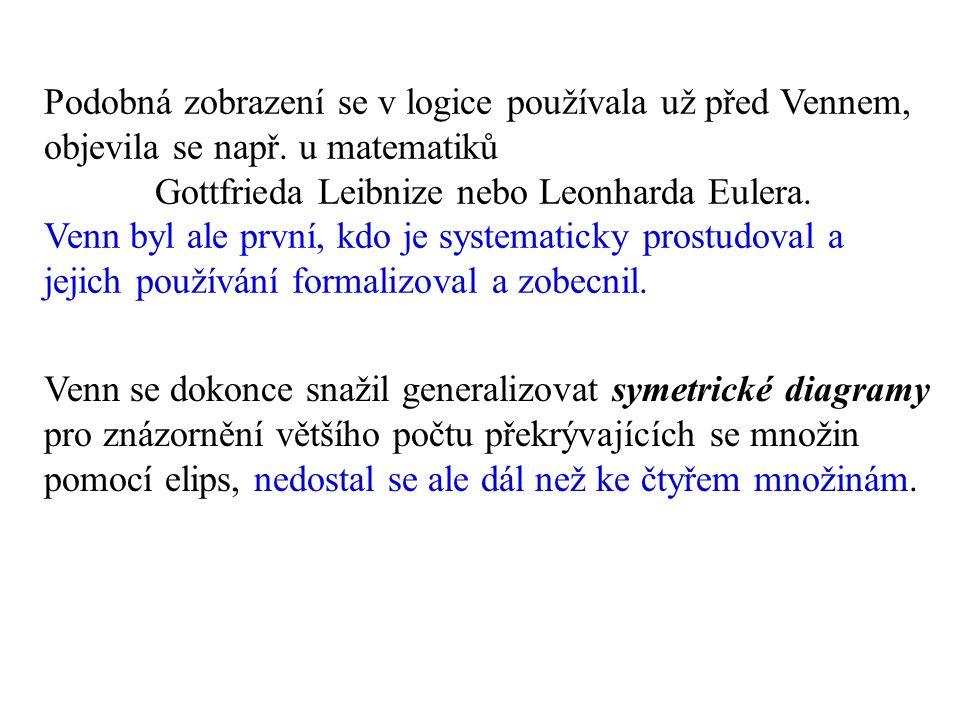 Podobná zobrazení se v logice používala už před Vennem, objevila se např.