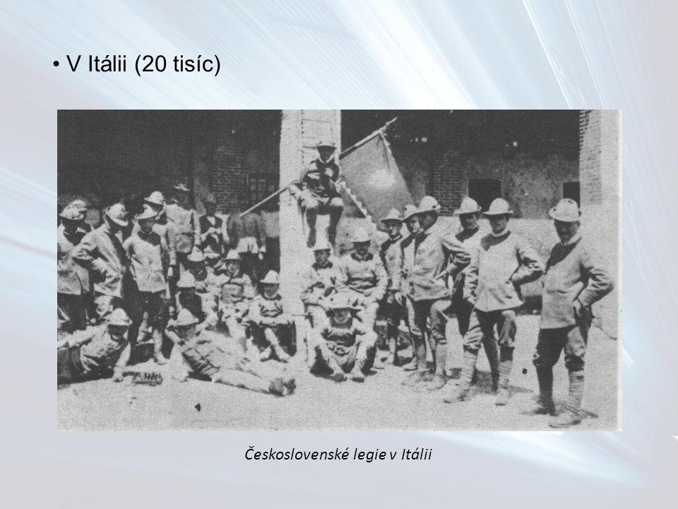 V Itálii (20 tisíc) Československé legie v Itálii