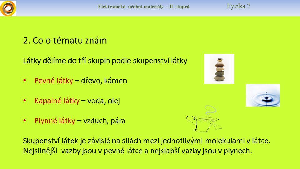 Elektronické učební materiály – II. stupeň Fyzika 7 2.