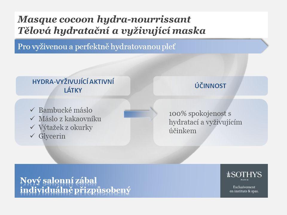 Masque cocoon hydra-nourrissant Tělová hydratační a vyživující maska Pro vyživenou a perfektně hydratovanou pleť Bambucké máslo Máslo z kakaovníku Výt