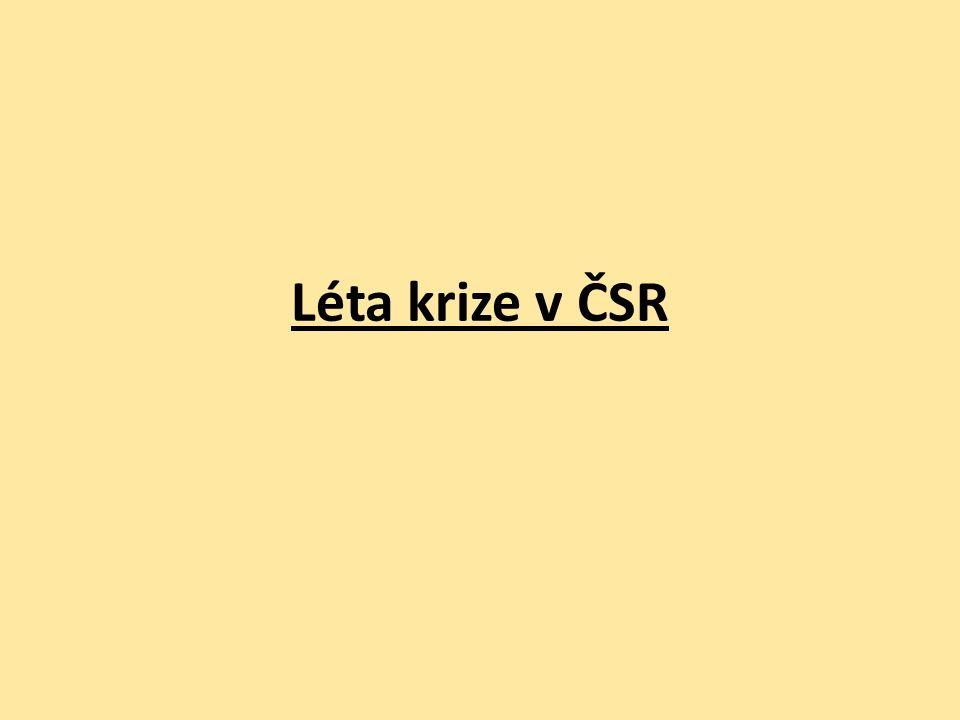 Léta krize v ČSR
