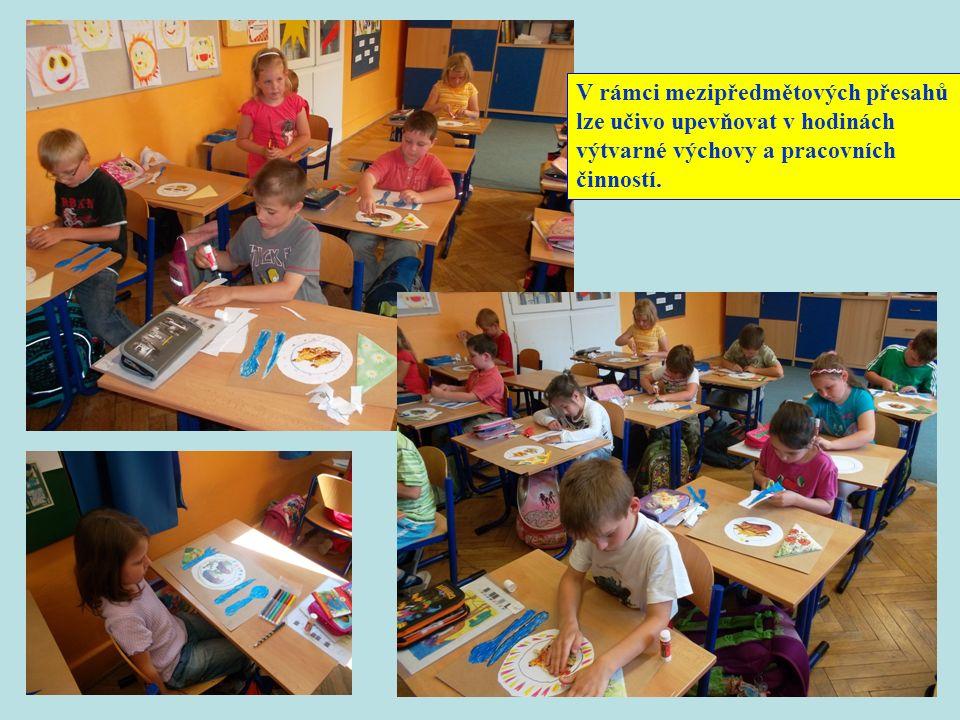 V rámci mezipředmětových přesahů lze učivo upevňovat v hodinách výtvarné výchovy a pracovních činností.