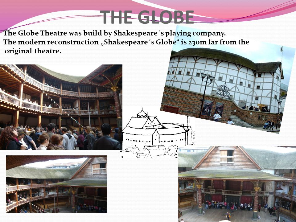 THE GLOBE The Globe Theatre was build by Shakespeare´s playing company.