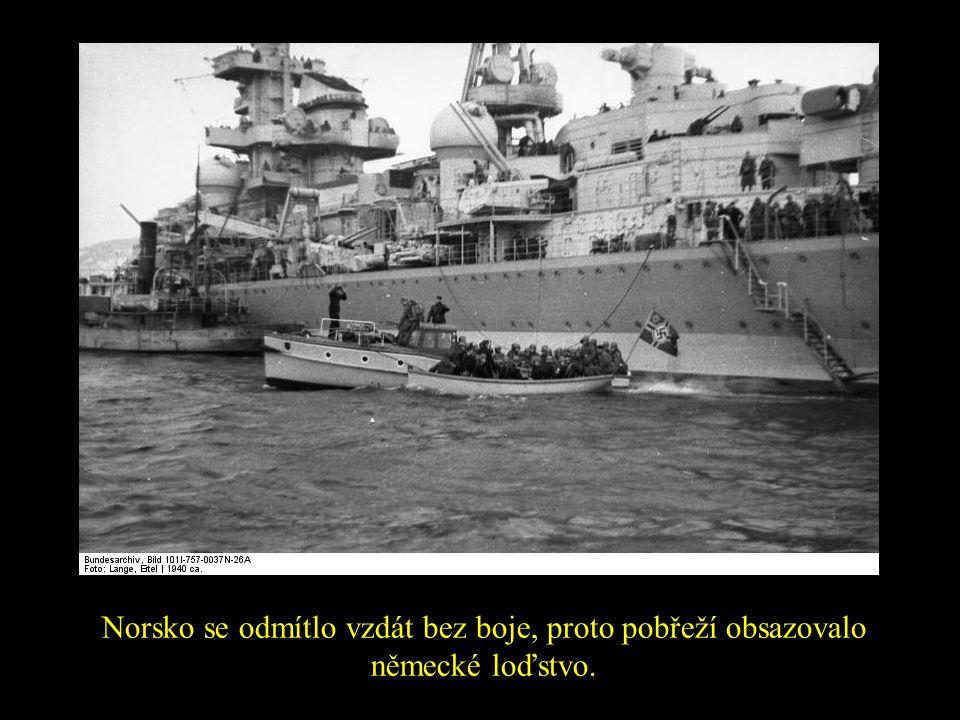 Norsko se odmítlo vzdát bez boje, proto pobřeží obsazovalo německé loďstvo.