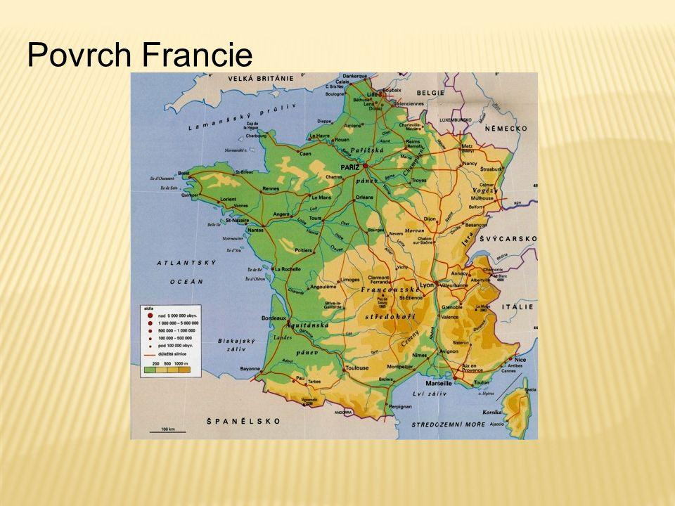Povrch Francie