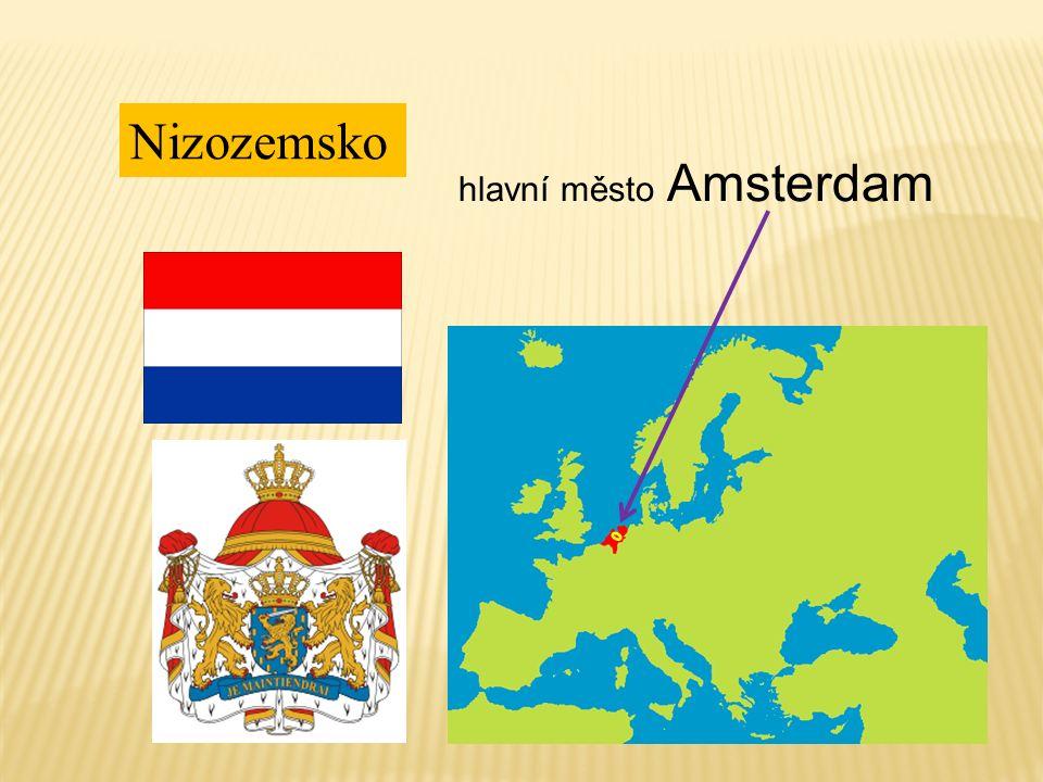 Nizozemsko hlavní město Amsterdam