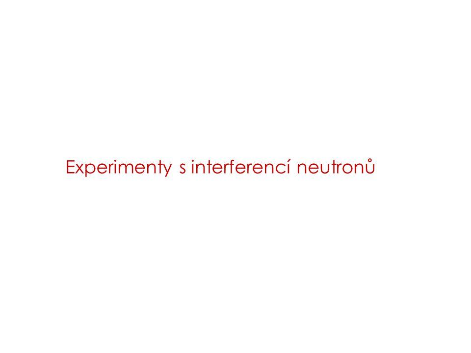 Experimenty s interferencí neutronů