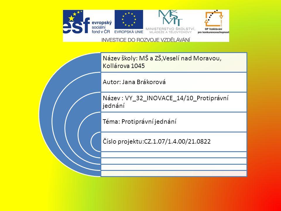 Anotace Materiál je určen pro výuku předmětu Občanská výchova v 9.ročníku na základní škole praktické Doba vzniku říjen 2012 Ověřeno 6.