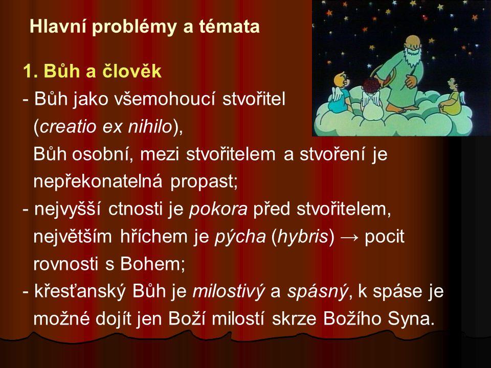 Hlavní problémy a témata 1.