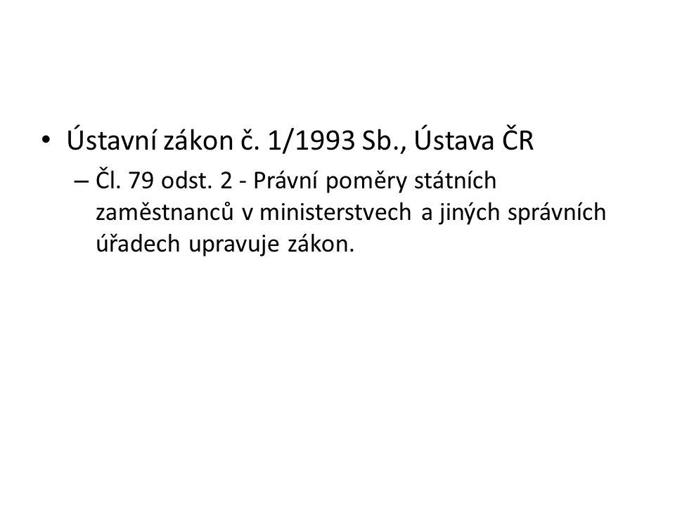 Ústavní zákon č. 1/1993 Sb., Ústava ČR – Čl. 79 odst.