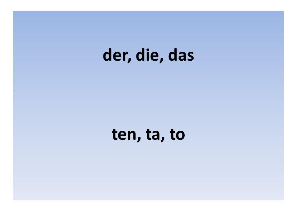 Člen určitý – rod mužský der (ten) Příklad: der Herr der Montag der Name der Computer Přelož: