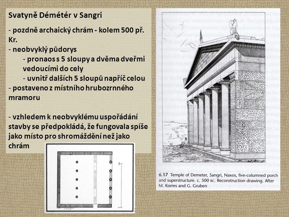 Svatyně Démétér v Sangri - pozdně archaický chrám - kolem 500 př.