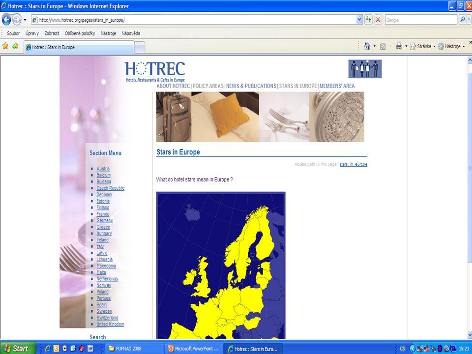www.ahrcr.cz HVĚZDIČKY V NOVÉM Recertifikace 2010 – 2012 Subjektivní prvky Harmonizace s HOTREC Kontrola vždy před udělením Spolupráce s CK BUDOVÁNÍ ZNAČKY